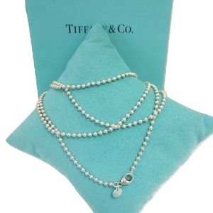 """Tiffany & Co. Bead Chain Ex long 34"""" Necklace"""